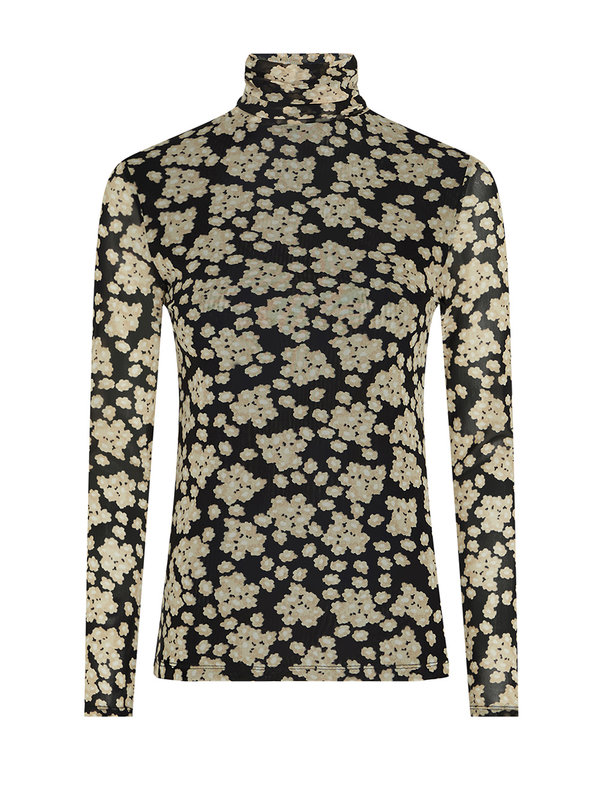Fabienne Chapot Jane Mesh Top Black/Oatmeal Blossem Bouquet