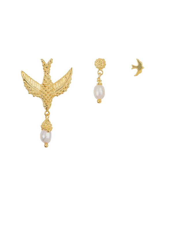 Betty Bogaers Bird Mix Gold Plated (three pieces)