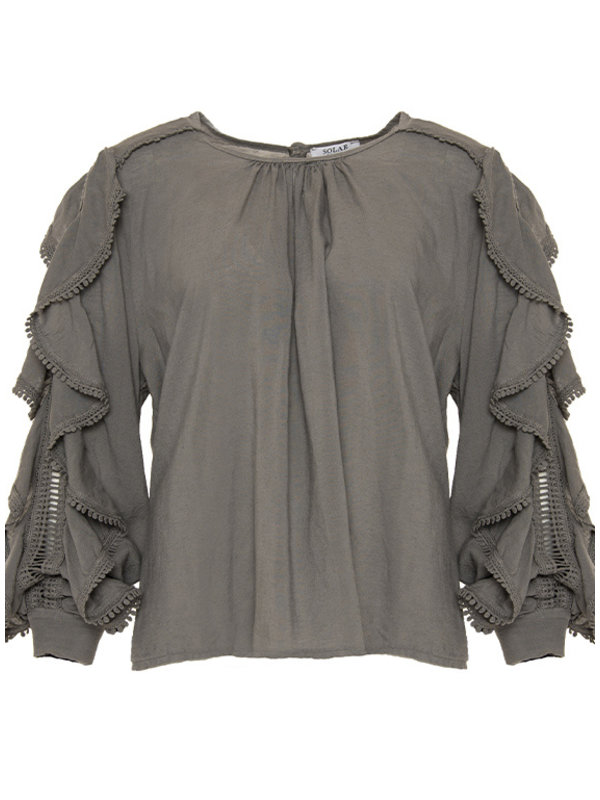 By Sara Collection Top Angira Donkertaupe