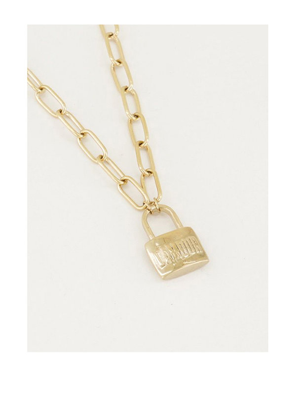 My Jewellery Ketting Slot L'amour Goud