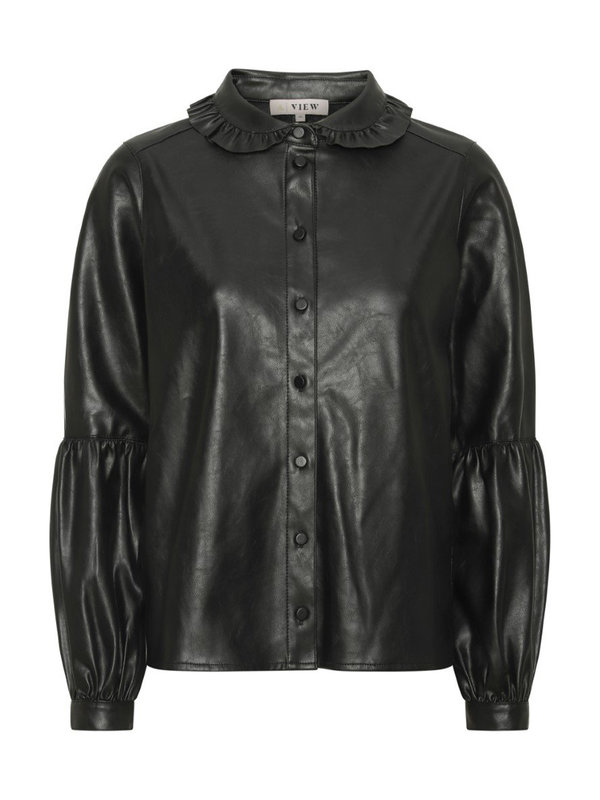 A-view Jennifer PU Shirt Black