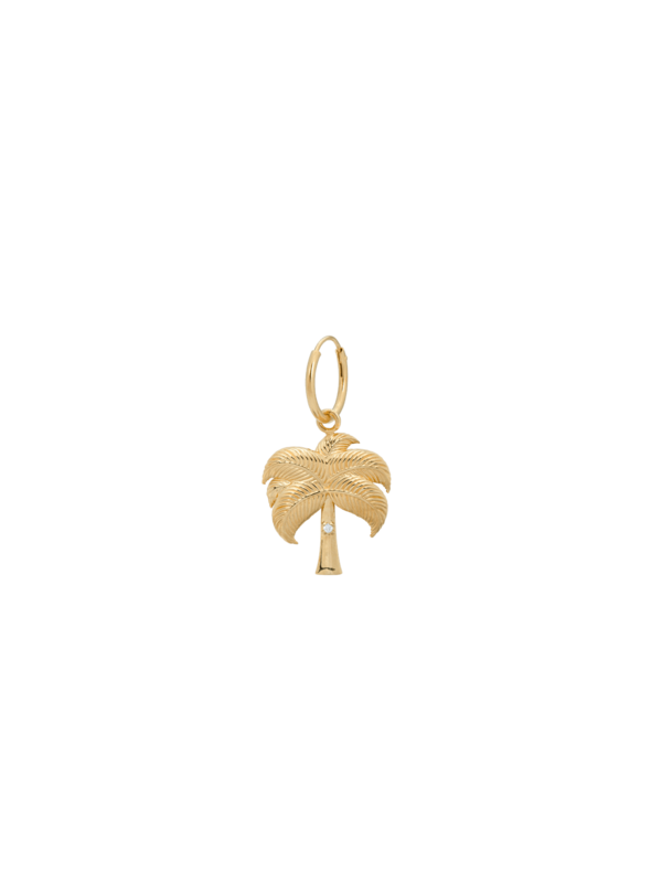 Anna + Nina Single Twinkling Palm Ring Earring Goldplated