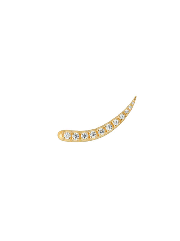 Anna + Nina Single Zirconia Sparkle Hook Goldplated
