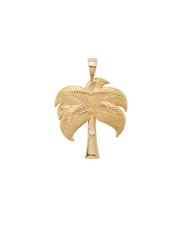 Anna + Nina Twinkling Palm Necklace Charm Goldplated