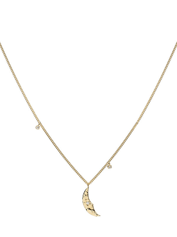 Anna + Nina Moonlight Necklace Goldplated