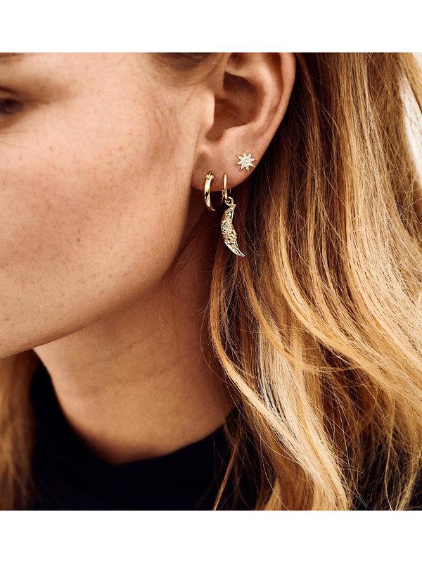 Anna + Nina Single Wonderland Ring Earring Goldplated