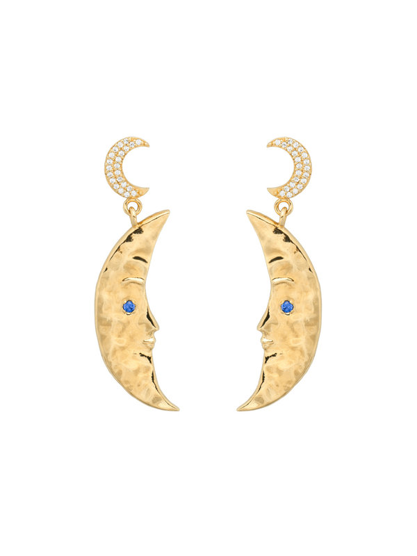 Anna + Nina Wonderland Dangles Brass Goldplated