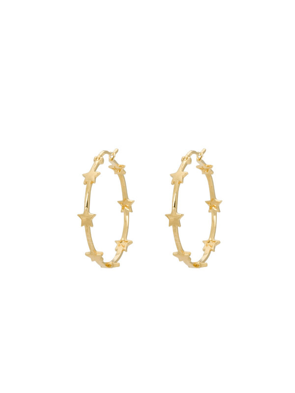 Anna + Nina Nova Hoop Earrings Brass Goldplated