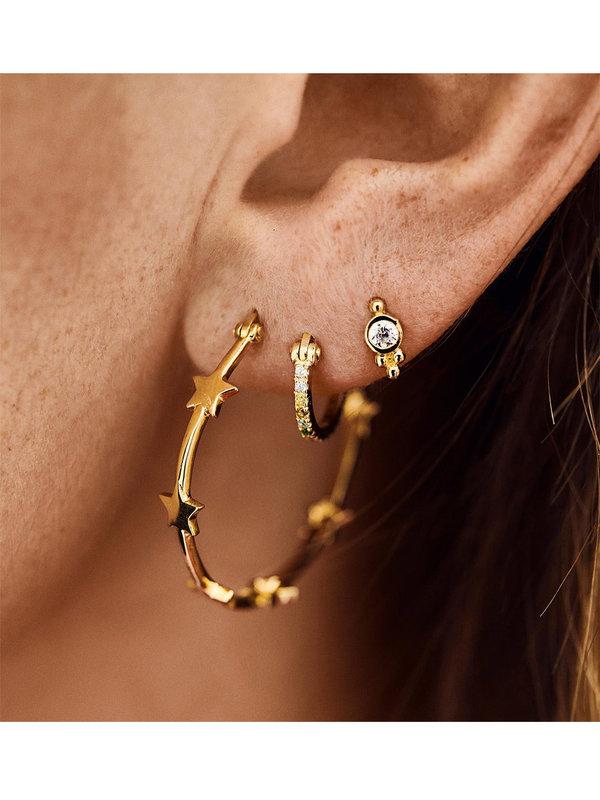 Anna + Nina Nova Hoop Earrings Brass Goldplated