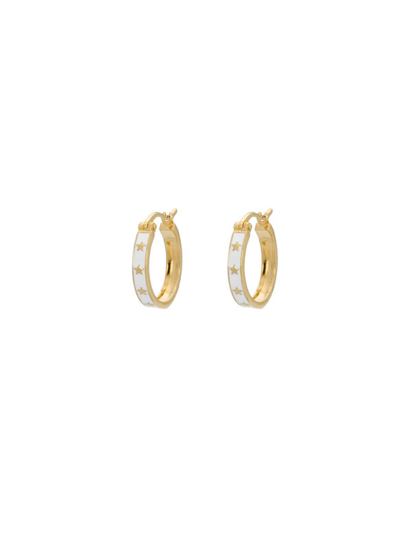 Anna + Nina Midnight Ring Earrings Goldplated