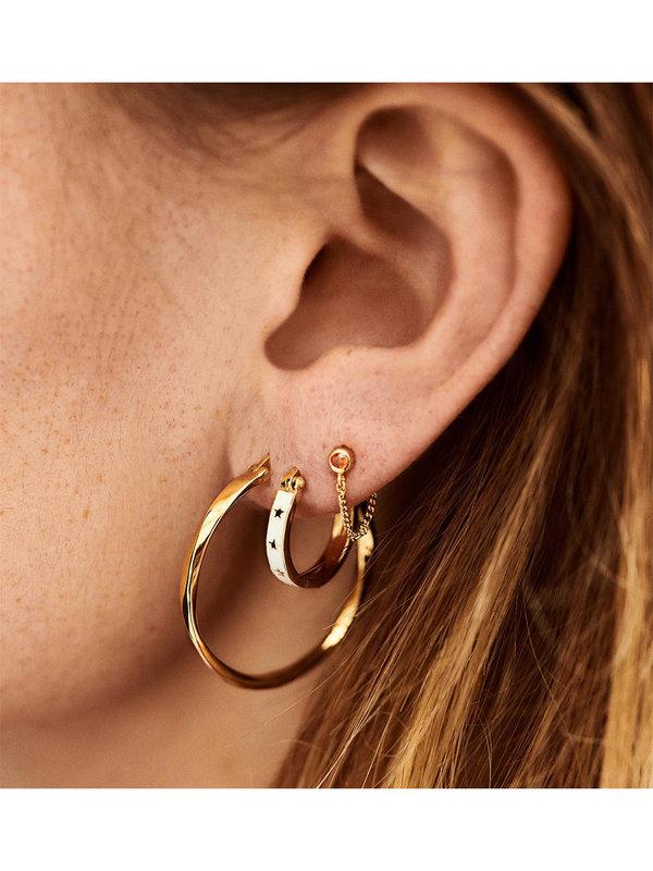 Anna + Nina Midnight Ring Earrings Goldplated
