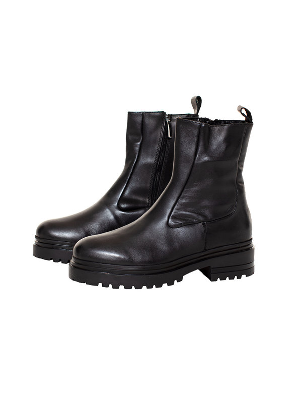 Deabused Bonnie Leather Boots Black