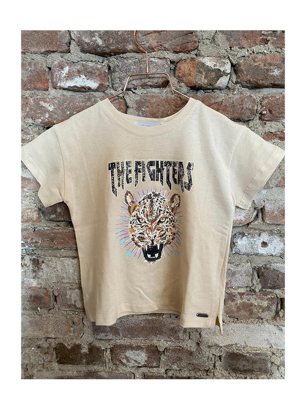 By Sara Collection KIDS Thanee T-Shirt Tijger Beige