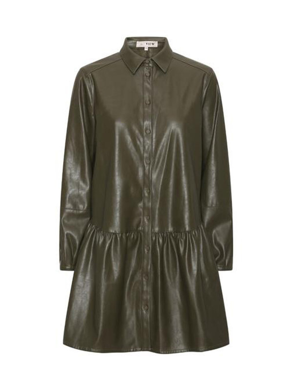 A-view Iris Shirt Dress Army