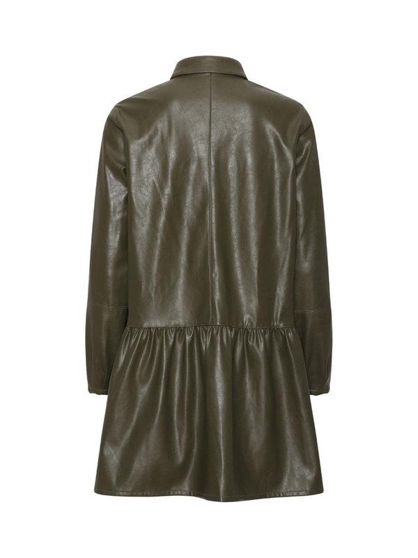 A-view Iris Shirt Dress Army