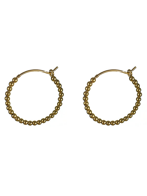 Blinckstar Earrings Gold Hoop Balls