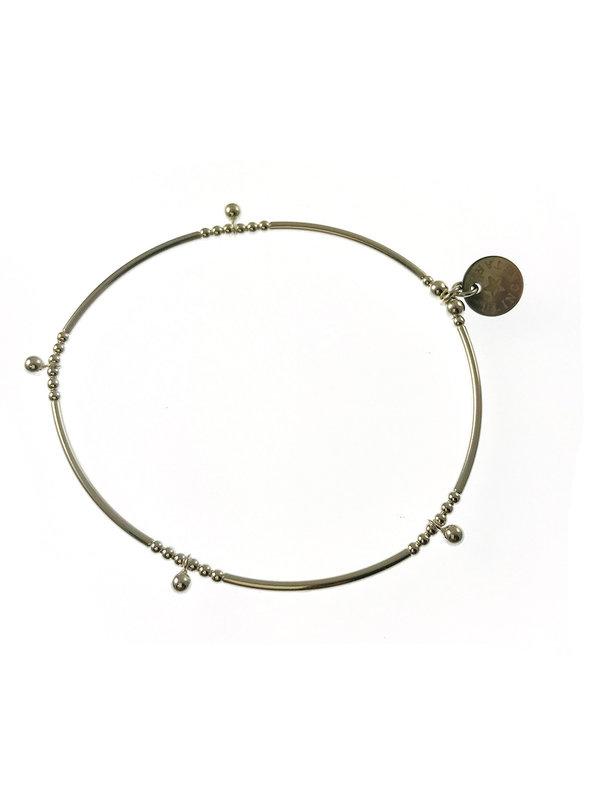 Blinckstar Bracelet Silver Beads Tube Drop