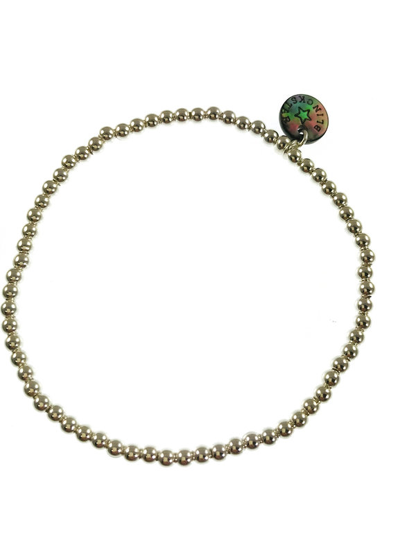 Blinckstar Bracelet Silver Balls Elastic