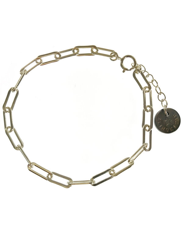 Bracelet Silver  Closed Forever Links Small