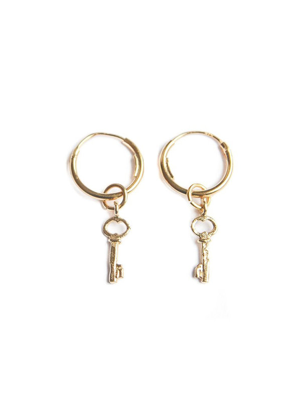 Bobby Rose Key Of Love Earring Gold