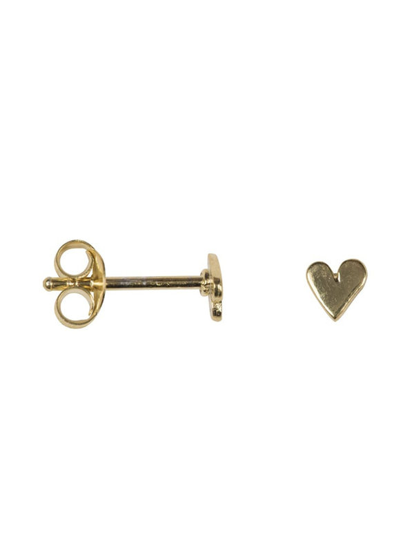 Betty Bogaers Asymmetric Heart Stud Earring Small Gold