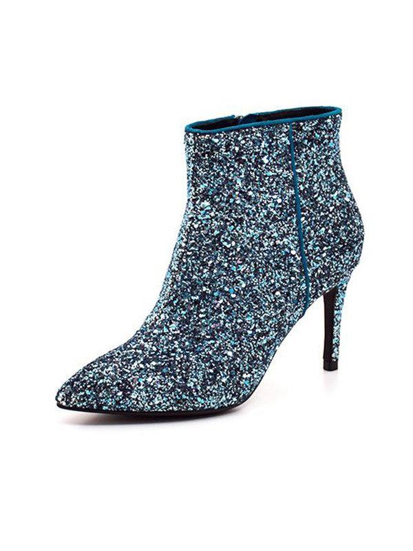 Sofie Schnoor Blue Glitter Shoe
