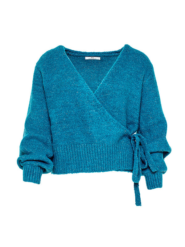 By Sara Collection Teal Blue Pullover One Size