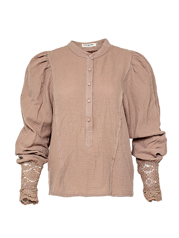 By Sara Collection Valerie Blouse Soft Brown