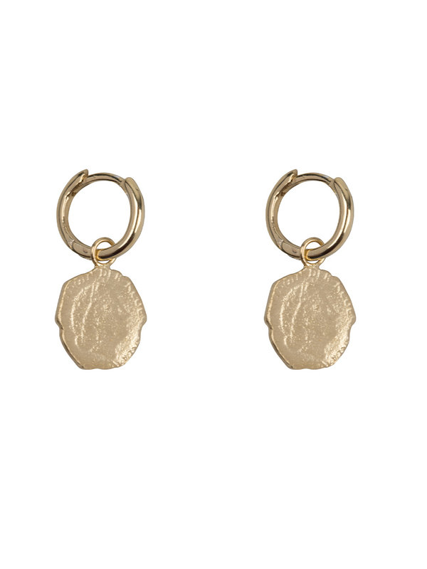 Betty Bogaers Ten Cent Small Hoop Earring Gold Plated