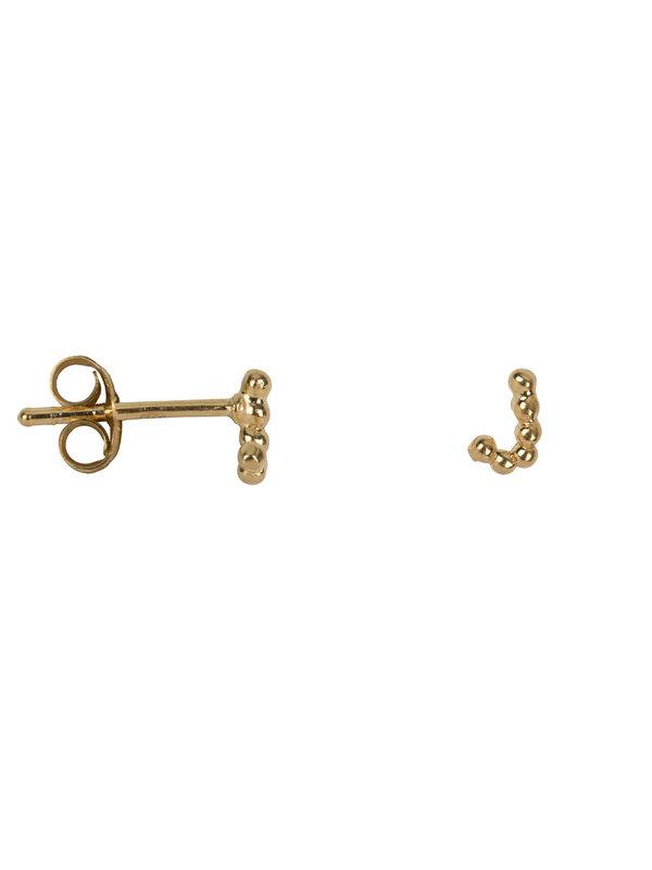 Betty Bogaers Letter Stud J Earring Gold Plated