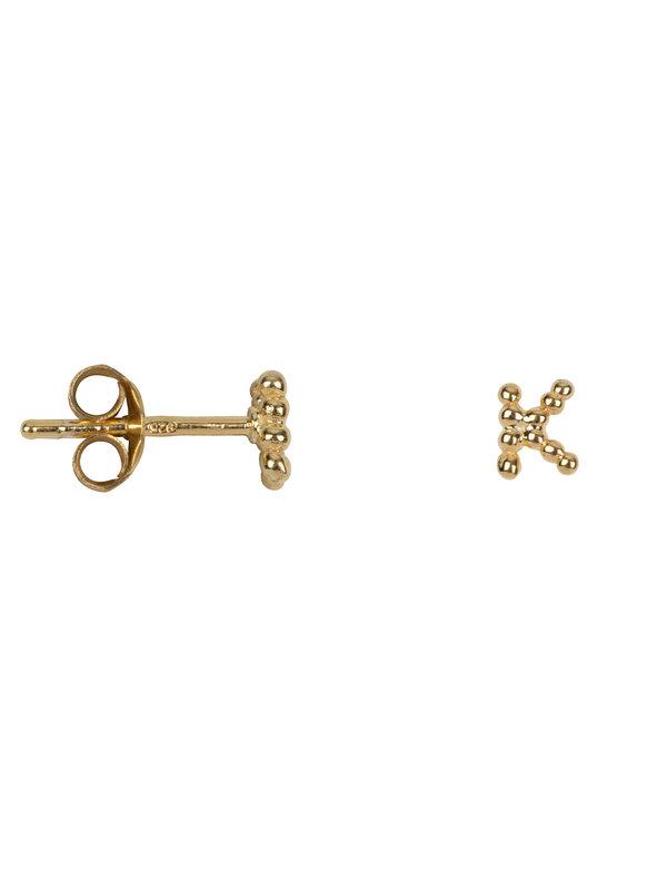 Betty Bogaers Letter Stud K Earring Gold Plated