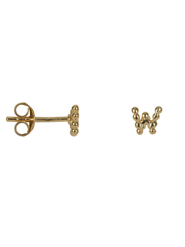 Betty Bogaers Letter Stud W Earring Gold Plated