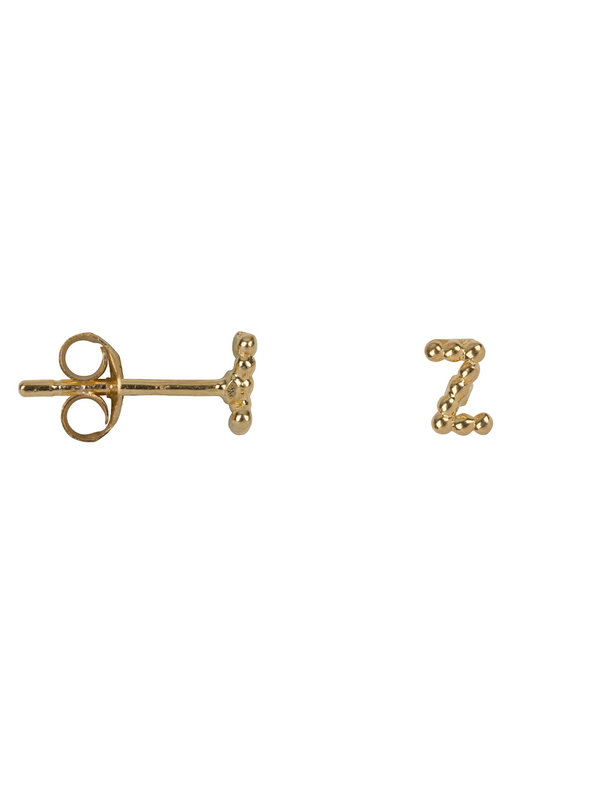 Letter Stud Z Earring Gold Plated