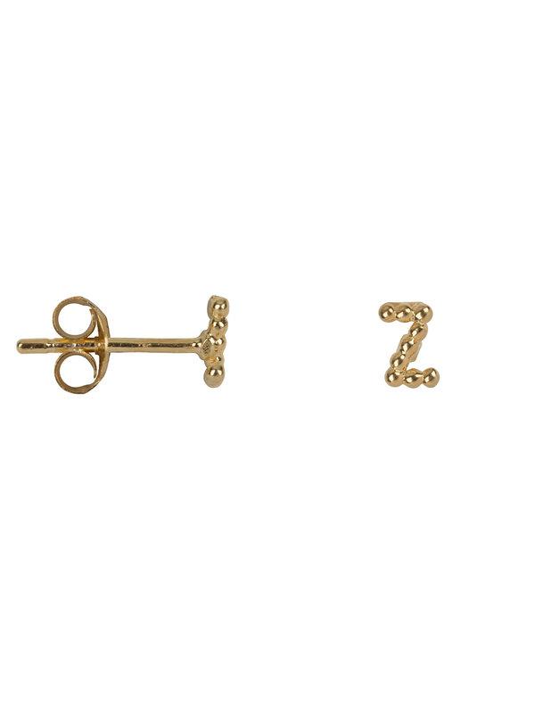 Betty Bogaers Letter Stud Z Earring Gold Plated