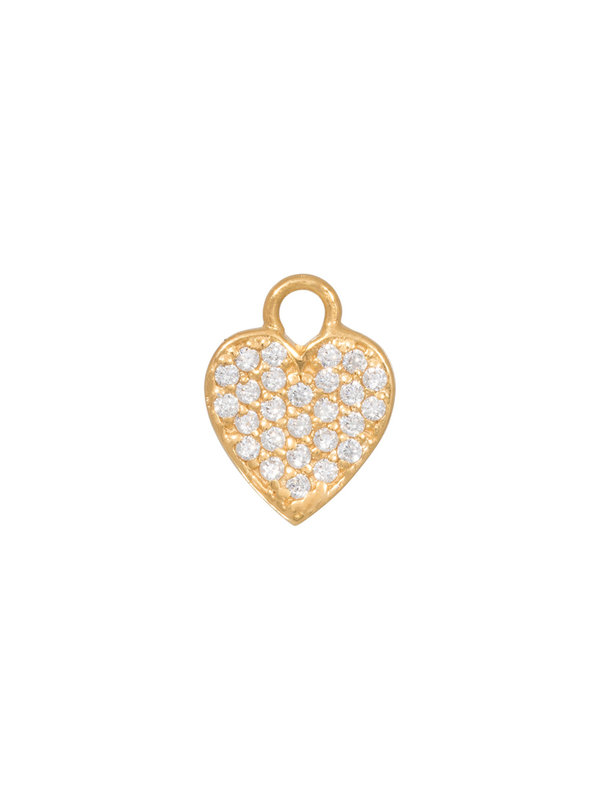 Eline Rosina Mix & Match Single Heart Pendant Gold Plated 4