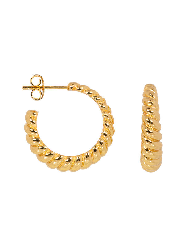 Eline Rosina Croissant Hoops Gold Plated