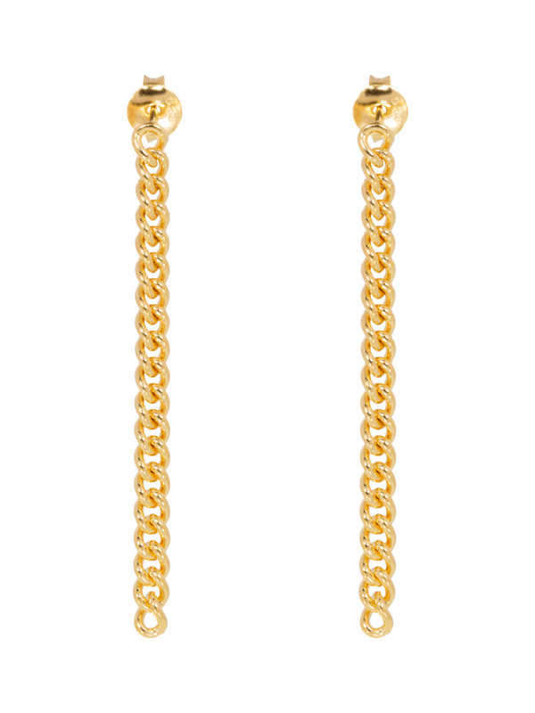 Eline Rosina Chunky Chain Earring Gold Plated