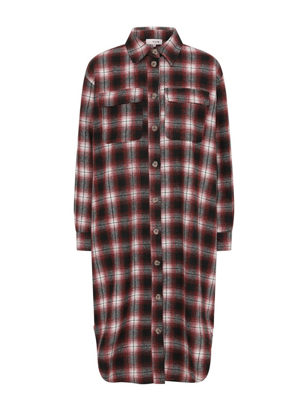 A-view Stine Long Shirt Bordeaux