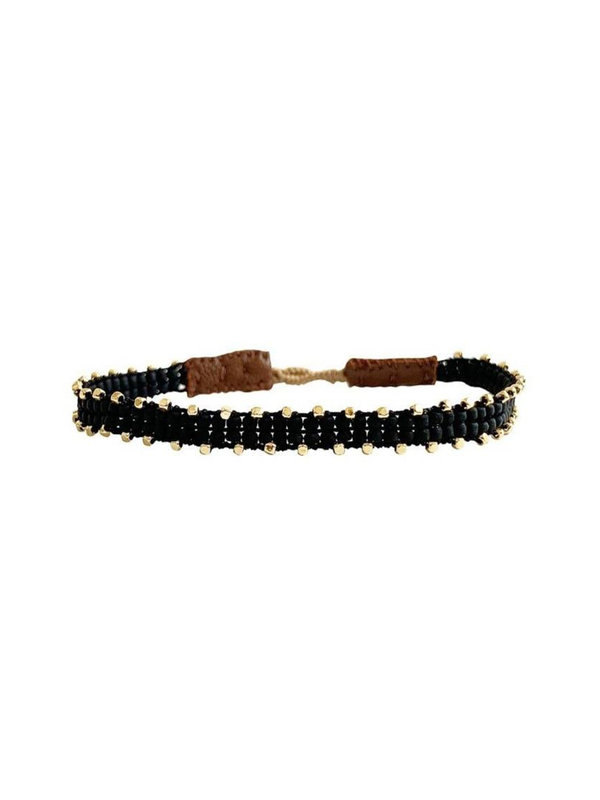 Ibu Jewels Bracelet Fishbone Black RI01