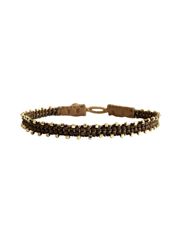 Ibu Jewels Bracelet Fishbone Bronze RI04