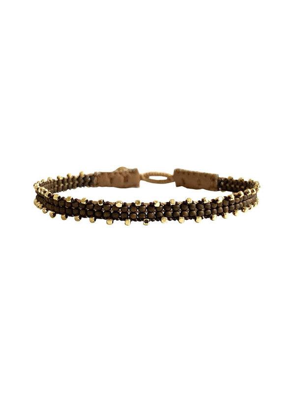 Ibu Jewels Bracelet Fishbone Bronze