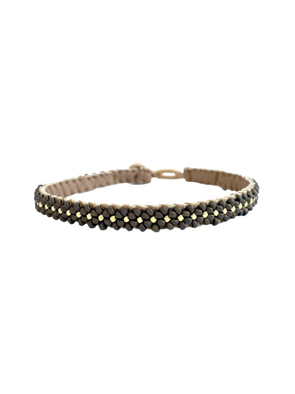 Ibu Jewels Bracelet Lace Bronze RJ04