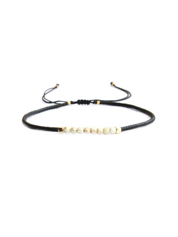 Armband Black And Pearl 101
