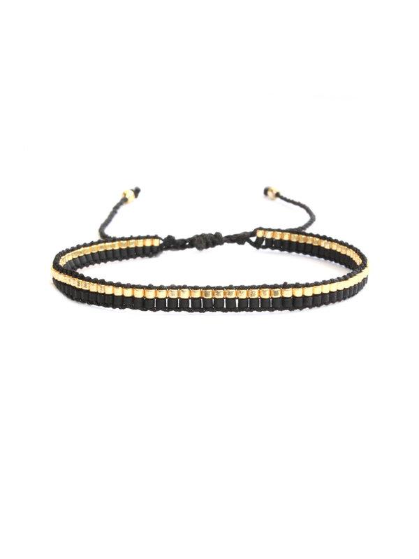 Lobibeads Armband Black Gold
