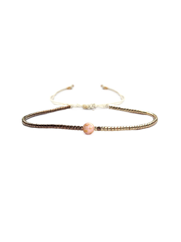 Armband Bronze With Pink 115