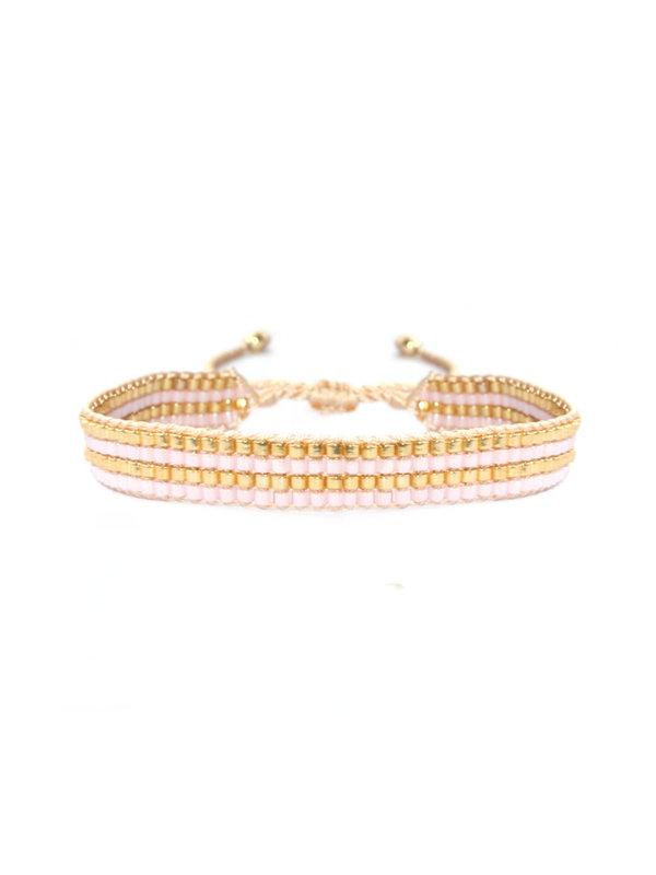 Lobibeads Armband Glitter Gold