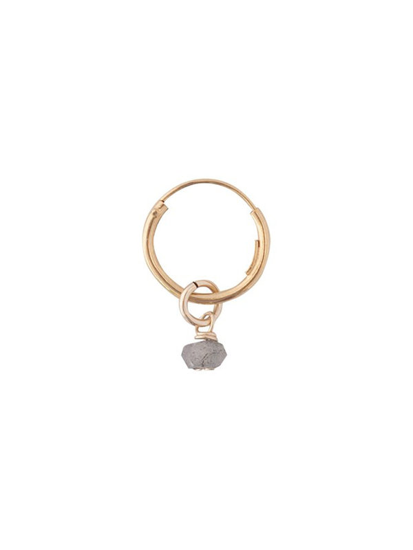 Bobby Rose Grey Moon Earring