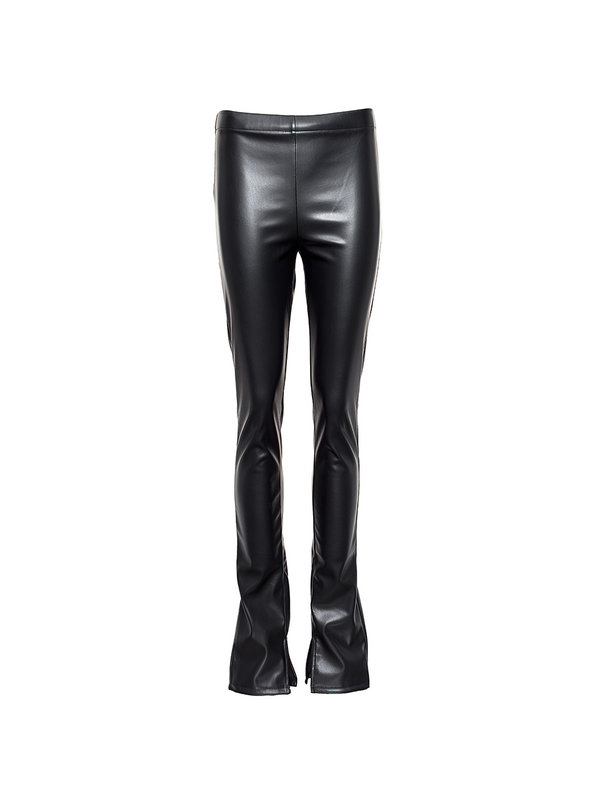 By Sara Collection Black Split Pants