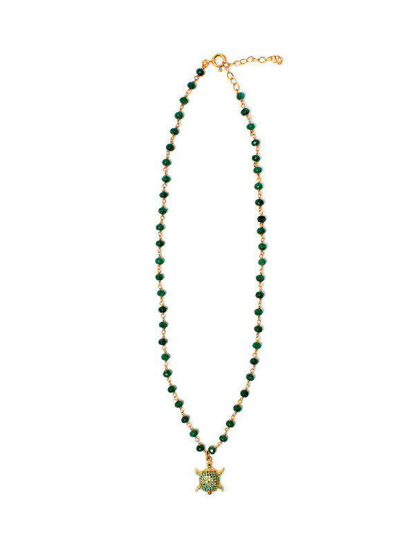 I Am Jai Necklace With Charm Green