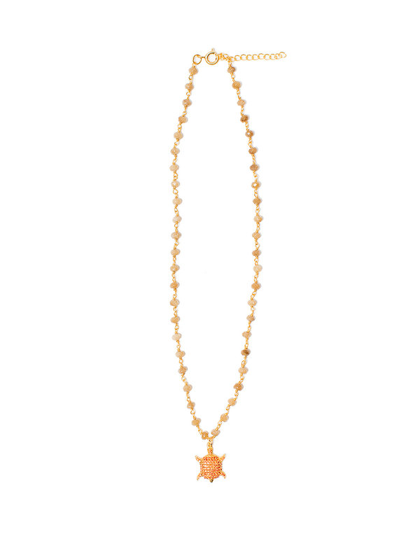 I Am Jai Necklace With Charm Beige